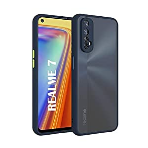 AE Mobile Accessories Back Cover for RealMe 7 Smoke Translucent Shock Proof Smooth Rubberized Matte Hard Back Case Cover…