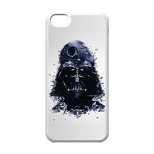 Caso 5c iPhone Covers White Star Wars Darth Vader ilustraciones protector personalizado caja del teléfono A1G7LE