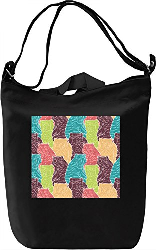Bear Print Borsa Giornaliera Canvas Canvas Day Bag| 100% Premium Cotton Canvas| DTG Printing|