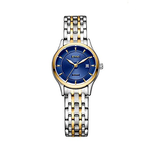 - TIDOO Quartz Ladies Wristwatch Round Casual Business Brand Luxury Waterproof Two Tone Full Stainless Steel Watches Women Dress Blue Watches