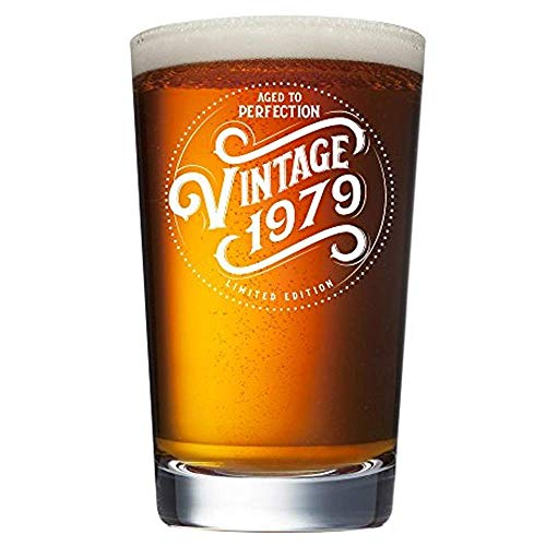 1979 40th Birthday Gifts for Men Women Beer Glass | Funny Vintage 40 Year Old Presents | 16 oz Pint Glasses Party Decorations Supplies | Best Craft Beers Cup Gift Ideas for Dad Mom Husband Wife 40 th -