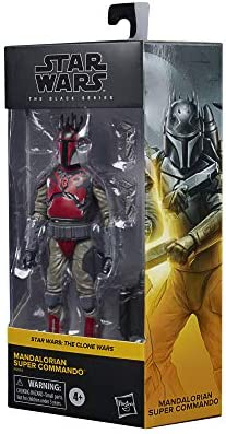F0014 Hasbro Star Wars Black Series-Mandaloriano Super Commando Action Figure 15 cm da Collezione, Ispirato a Star The Clone Wars