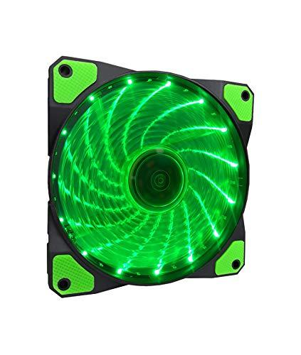 Ventilador APEVIA CF12SL-SGN 120mm Green LED Ultra Silent Ca