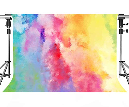 MEETSIOY Paint Art Backdrop Colored Oil Painting Photography Background Themed Party Photo Booth YouTube Backdrop 7x5ft - Background Painting Oil