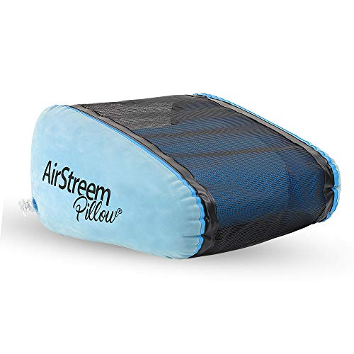 - Airstreem Pillow - Inflatable Travel Pillow for Beach, Pool, Airplanes, Home, Camping, Outdoors, and More. Package Quantity: 1 Pillow.