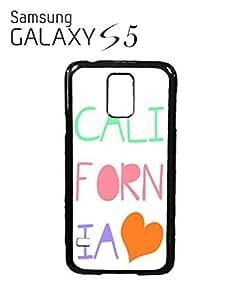 California Heart it Summer Mobile Cell Phone Case Samsung Galaxy S5 Black