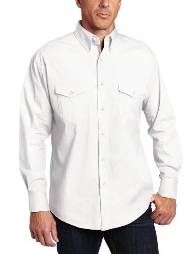 (Wrangler Men's Painted Desert Basic Shirt, White, Large)