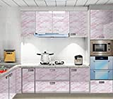 Marble Contact Paper Self Adhesive Waterproof Vinyl Sticker Roll Pink Glossy Marble Wallpaper for Kitchen Countertops Cabinet Desk Shelf Liner