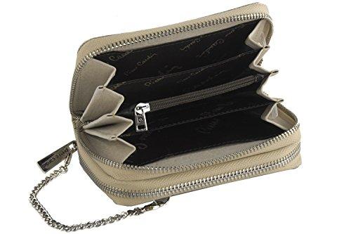 cartera mujer PIERRE CARDIN oro compacto con abertura zip