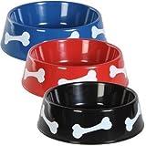 MOHOT Round Plastic Pet Bowls - 9 3/4 inch - 3 color set