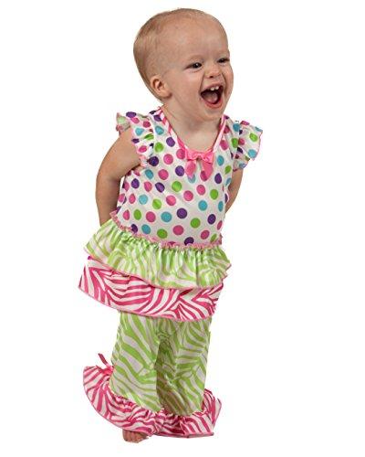Laura Dare Baby Girls Gumballs Flutter Sleeve PJ Set, 12m ()