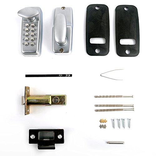 co z keyless digital password entry door lock 2 sets key code locks. Black Bedroom Furniture Sets. Home Design Ideas