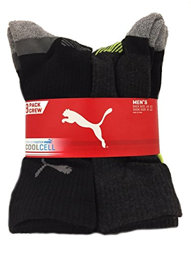 puma-mens-cool-cell-crew-socks-8-pack-sock-size-10-13-shoe-size-6-12-black-gray