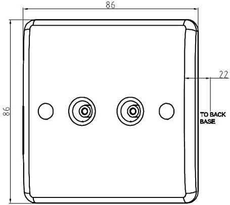 Knightsbridge Blanco CU7000 Interruptor de direcci/ón con Borde Curvado