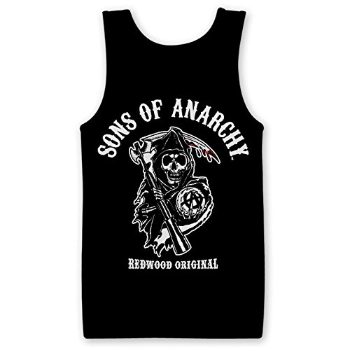 Officially Licensed Merchandise Sons Of Anarchy - Redwood Original Tank Top Vest Black Large (Of Tank Anarchy Top Sons)