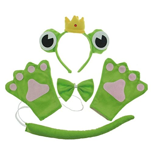 [San Tokra Cosplay Party Costume Frog Headband Bowtie Tail Set Halloween Masquerade (Adult, Prince)] (Varys Halloween Costume)