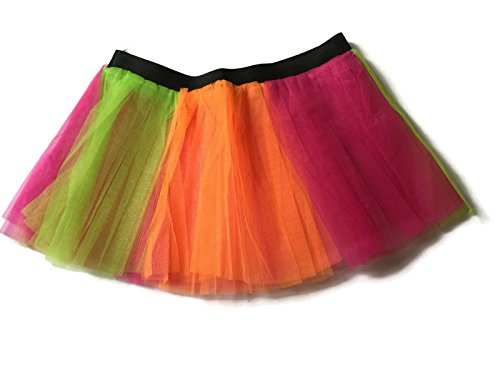 Rush Dance Running Skirt Teen or Adult Princess Costume Runners Rave Race Tutu (Orange & Hot Pink & (Disney World Marathon Costumes)