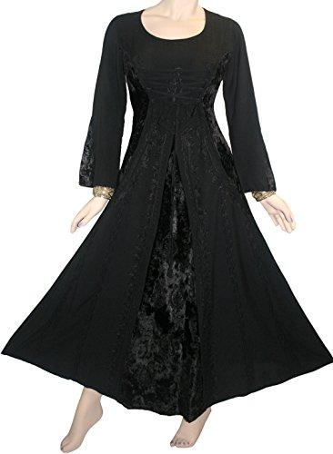 long black peasant dress - 8