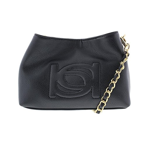 bebe-womens-lara-faux-leather-embossed-crossbody-handbag-black-small