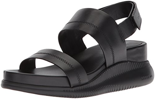 Cole Haan Women's 2.Zerogrand Slide Sport Sandal, Black Leather, 9.5 B US by Cole Haan