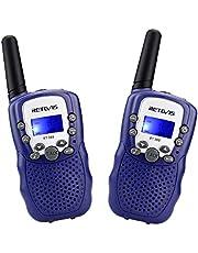 Retevis RT388 Talkies Walkies Enfants PMR446 8 Canaux Écran LCD Lampe de Torche Fonction VOX 10 Tonalités d'Appel Verrouillage des Canaux