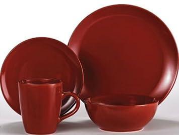 Viners 16 piece Red Round Dinner Set Dinner Service Plates Bowls Mugs Amazon.co.uk Kitchen \u0026 Home  sc 1 st  Amazon UK & Viners 16 piece Red Round Dinner Set Dinner Service Plates Bowls ...