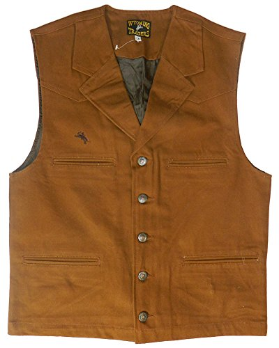 Men's Wyoming Traders Cotton Canvas Bronco Vest (X-Large, (Bronco Vest)