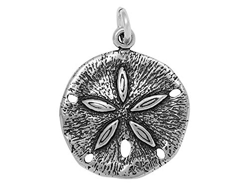 - Raposa Elegance Sterling Silver Sand Dollar Charm (approximately 17 mm x 17.5 mm)