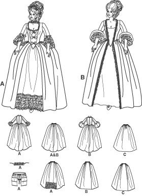 Simplicity 4092 Sew Pattern Misses' 18th Century Costume SIZE 6-12