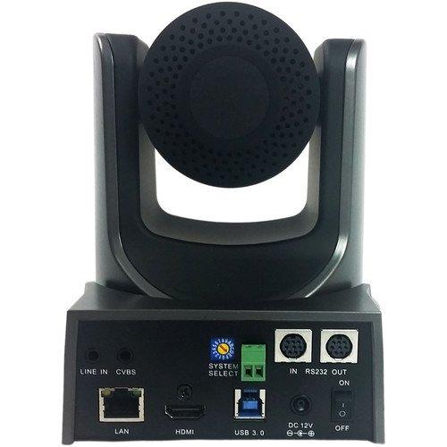 PTZOptics 12X-USB 2.12MP 1080p Full HD Video Conferencing PTZ Camera, 12x Optical Zoom, 30fps, RJ-454 H.264, 72.5 Degree FOV, USB 3.0, HDMI, IP Streaming, CVBS Video Output Interface, Gray