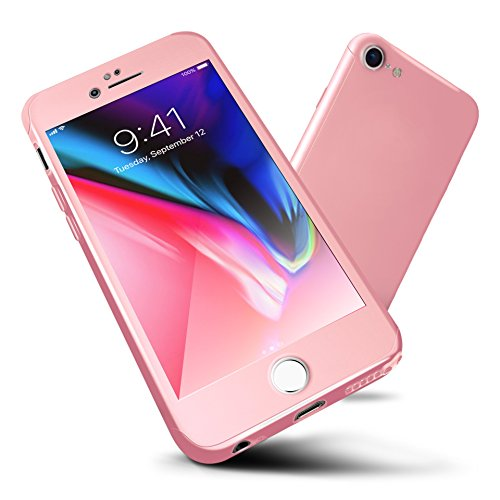 iPhone 6s Case,ORETECH iPhone 6/6s Case Full Body Hard PC Case with[2 x Tempered Glass Screen Protector] Ultra-Thin Lightweight Shock-Absorption and Anti-Scratch Case for iPhone 6 Case-4.7