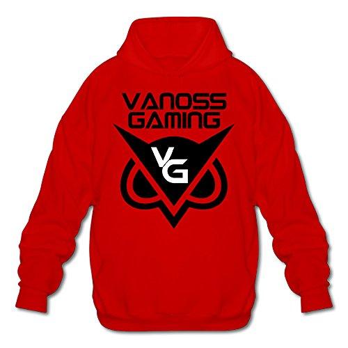 VANDOR Men's Vanoss Gaming Gold Owl Logo Hooded Sweatshirt Red - Facebook Moo Moo