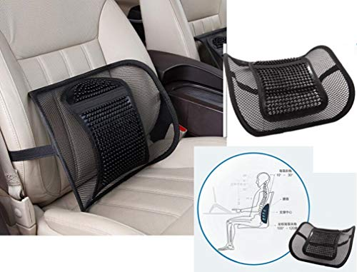 Car Lumbar Support Back Cushion with Adjustable Breathable Mesh, Aumee Office Chair Lower Back Pain Fatigue Relief