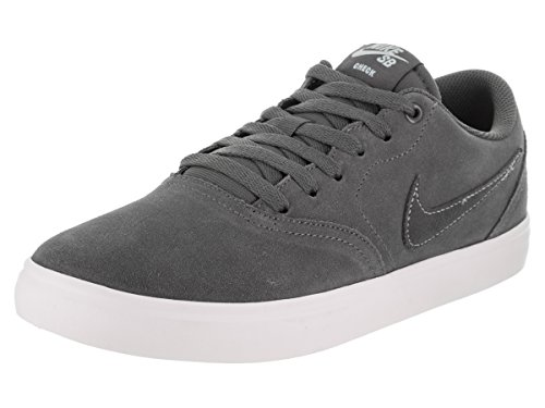 NIKE Men's SB Check Solarsoft Skate Shoe (13 D(M) US, Dark Grey/Dark Grey)