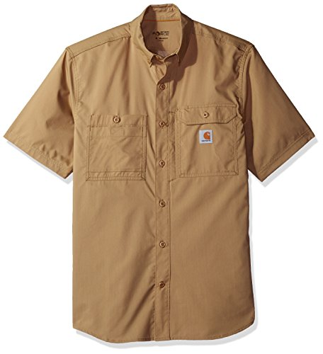 Carhartt Men's Force Ridgefield Short Sleeve T-Shirt (Regular and Big & Tall Sizes), Dark Khaki, 2X-Large