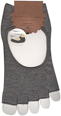 レディース 5本指 指先 なし インステップホール カバー ソックス (婦人 靴下 甲あき) 23-25cm