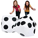 S&S Worldwide 17750 Jumbo Inflatable Dice (Pair), (Pack of 2)