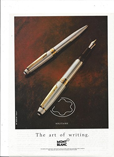print-ad-for-1990-mont-blanc-solitaire-pen-the-art-of-writing