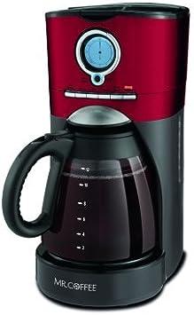 Mr. Coffee 12-Cup Programmable Coffee Maker, BVMC-VMX36WM, Red