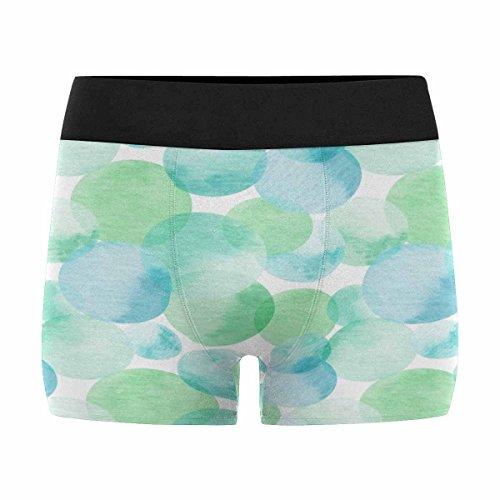 InterestPrint Boxer Briefs Men's Underwear Blue, Green Transparent Polka Dots (Polka Dots Boxers)
