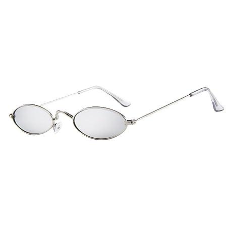 Winsummer Vintage Slender Oval Sunglasses Small Metal Frame ...