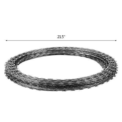 Orangea razor wire galvanized barbed ribbon