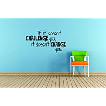 """Fitness: If it Doesn't Challenge You 12""""x18""""   Vinyl Wall Decal"""