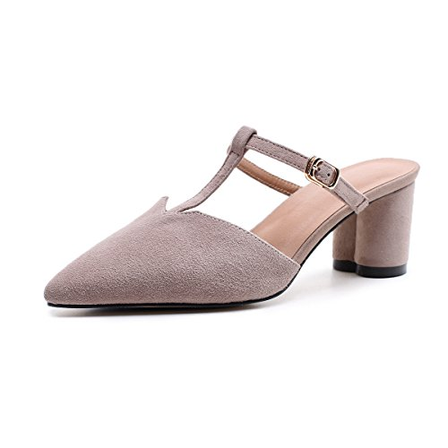 Shoes Summer Walking Flip Career Dress amp; amp; Shoes Shoes Pointed Fashion Breathable Women's Office Hollow out amp; amp; Comfort Flops Sandals Size Slippers Party Career Dress PU C Color Evening A XUE 34 Pqt58