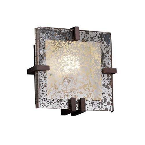 Justice Design Group Lighting FSN-5550-MROR-DBRZ Clips Square Wall Sconce