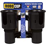 ROBOCUP - Updated Version - 12 Colors - Best Cup Holder for Drinks - Fishing Rod Pole - Boat - Beach Chair - Golf Cart - Wheelchair - Walker - Drum Sticks - Microphone Stand (Black)