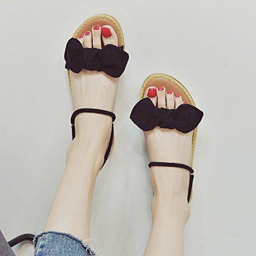 Student Schuhe Sandalen Wilden Retro Frau Sommer Mode Bogen Füße ITTXTTI Sandalen Schuhe A Strand Einfachen PxUtnqw5X