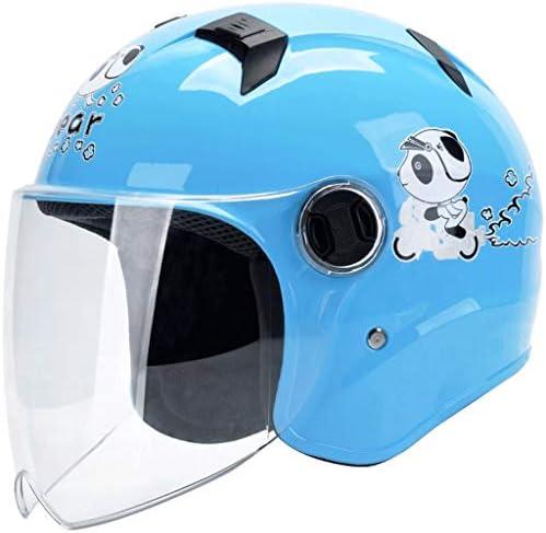 NJ ヘルメット- 子供用のヘルメット子供用の四季の普遍的な漫画ハーフヘルメット多色 (Color : I, Size : W18xH19cm)