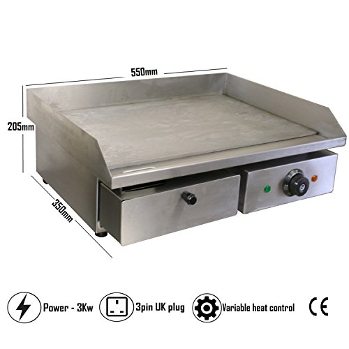 Chef Hub Commercial Counter Top Electric Stainless Steel