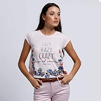 lee cooper T-Shirts For Women, Pink M